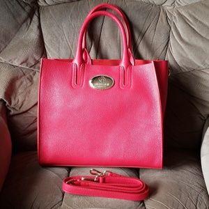 ❤Roberto Cavalli Red leather handbag❤